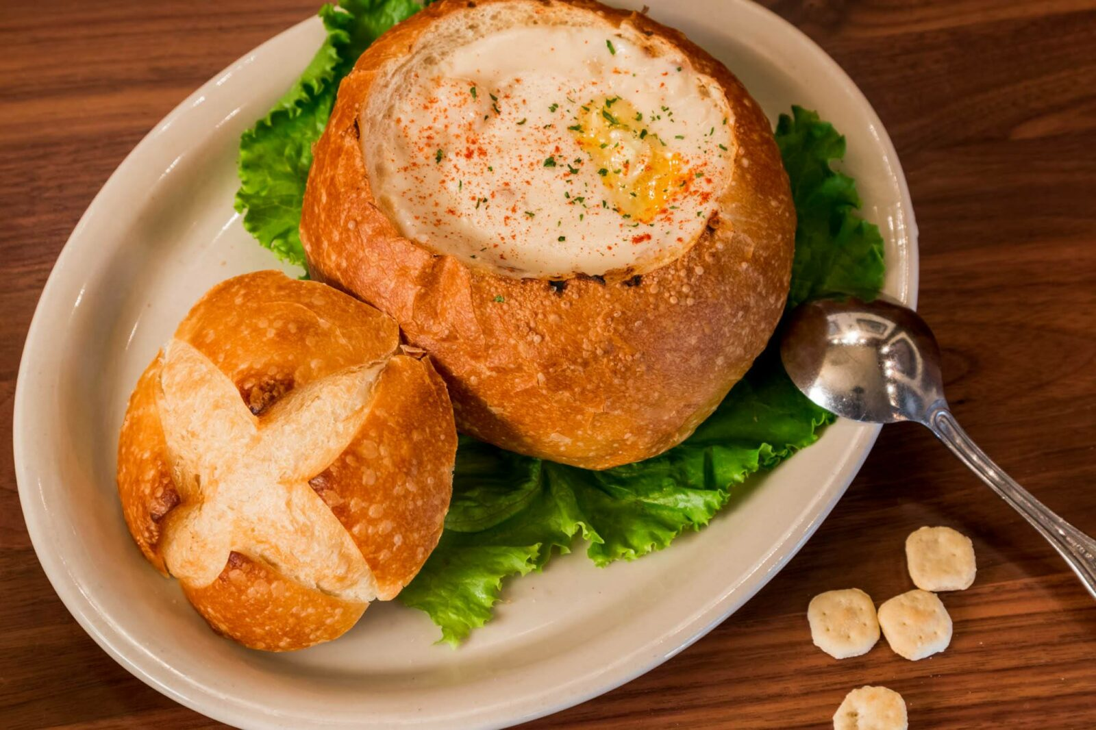 Chowder bread bowl