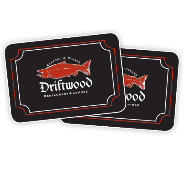 Driftwood gift certificates